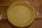 Pie crust before baking