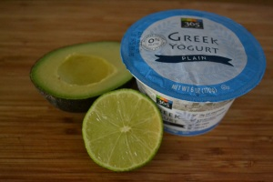 Greek yogurt & avocado spread ingredients